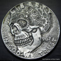 Hand engraved Half Dollar by shaun750
