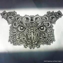 Scrollwork Owl by shaun750
