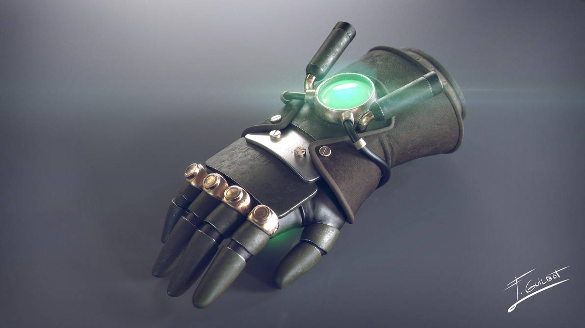 Asami's Electrified glove by brinx-II