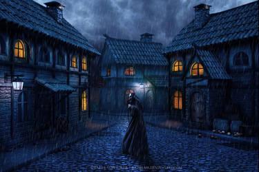 Death comes in the dark night by Ellysiumn