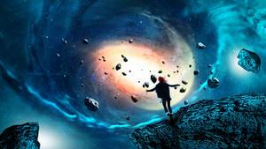Flying between meteorites by Ellysiumn