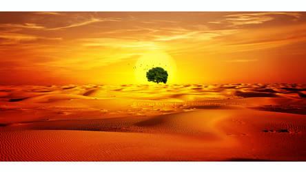 Desert tree by Ellysiumn