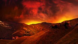 Sky on fire by Ellysiumn
