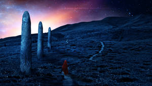 The path of the monoliths by Ellysiumn