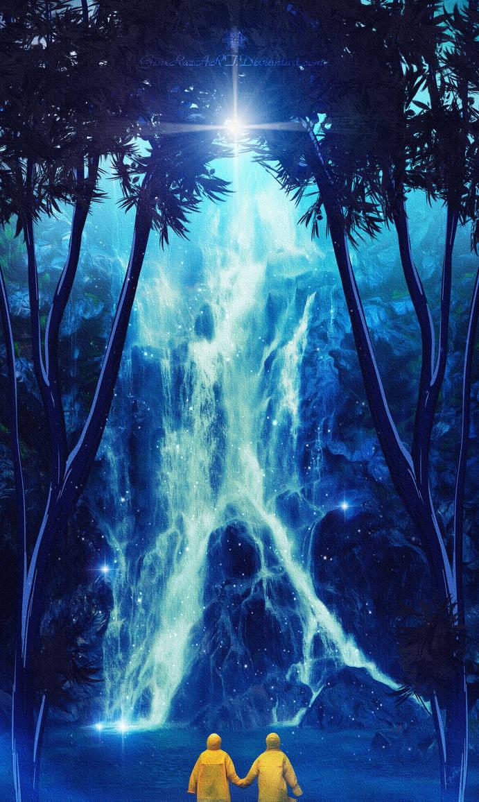 Sacred Waterfall by Ellysiumn