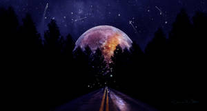 Road to the moon by Ellysiumn