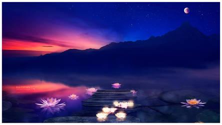 Zen sunset by Ellysiumn