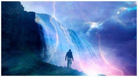 Magical falls by Ellysiumn