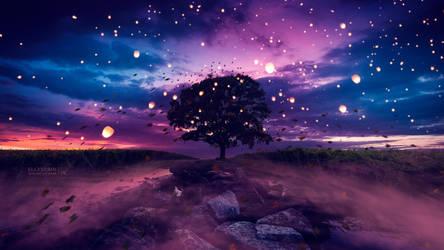 Wind of lights by Ellysiumn