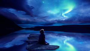 Looking at the Aurora Borealis by Ellysiumn