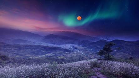 Colorful nightfall by Ellysiumn
