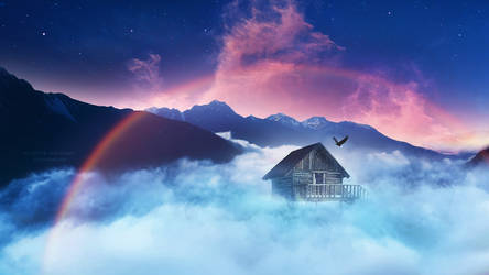 A shelter among the clouds by Ellysiumn