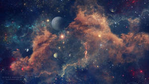 Cosmic kiss by Ellysiumn