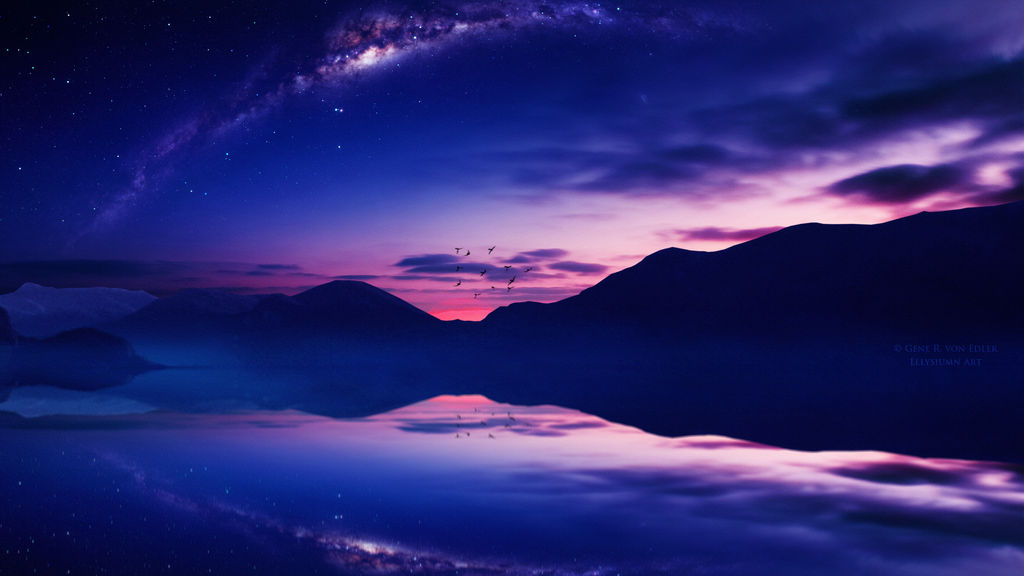 Звёздное небо и космос в картинках - Страница 9 Starry_twilight_by_ellysiumn_dcxdccx-fullview