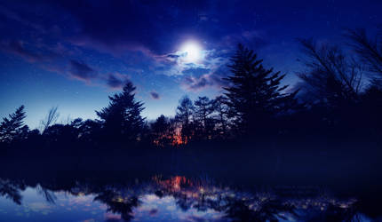 Sapphire night by Ellysiumn