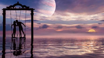 Love sunset by Ellysiumn