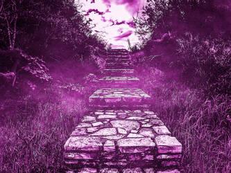 Stairs Background by suedseeengel