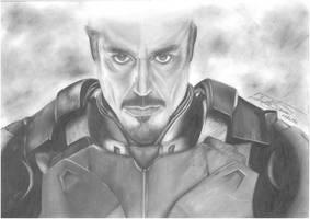 The Iron Man - Tony Stark by LJUDUMILU