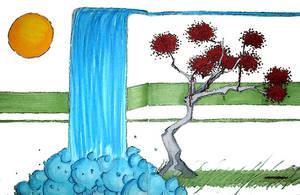 the waterfall by Bleu-Flamme