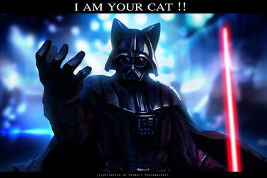 Lord Cat Vader by StarbowNext