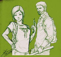 ELLIE and JOEL by tryvor