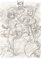 Justice League Sketch by tryvor