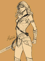 Sketch - Wonder Woman by tryvor