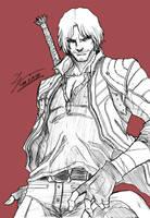 Sketch - DMC5 Dante by tryvor