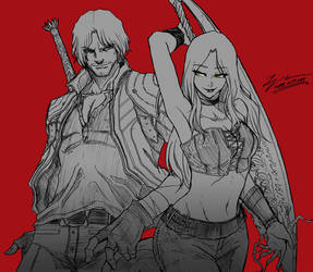 DANTE and TRISH by tryvor