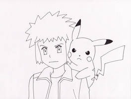 Volkner and his Pikachu by WhiteLillyDragonfly