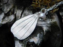 White Petal Fine Silver Pendant by QuintessentialArts