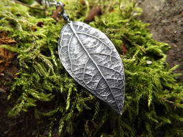 Elven Pendant- Large - Oxidized Fine Silver by QuintessentialArts
