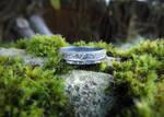 Achillea millefolium - Yarrow Fine Silver Ring 2 by QuintessentialArts