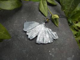 Ginkgo biloba with Mossy Vesuvianite - Fine Silver by QuintessentialArts