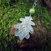 Quercus - Oak Leaf with British Columbia Jade by QuintessentialArts