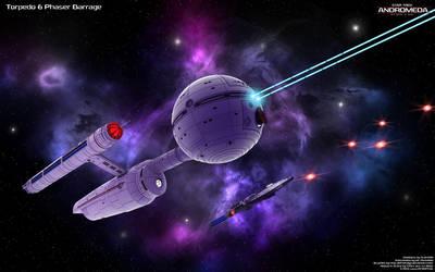 Torpedo and Phaser Barrage by Joran-Belar