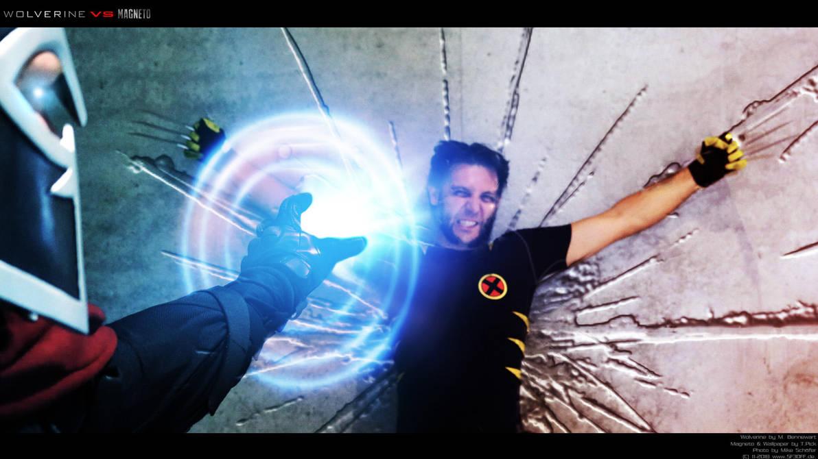 Wolverine vs Magneto Cosplay - Wallpaper by Joran-Belar