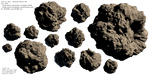 Asteroids Pack 02 - Stock by Joran-Belar