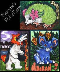 Nepryne's PokeTrio by lemurkat
