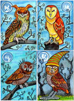 Owls of Whimsy by lemurkat