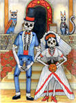 A Day of the Dead Wedding by lemurkat