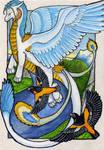 Aishila the Ice Dragon by lemurkat