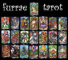 Furrae Tarot - major arcana by lemurkat