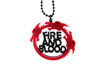Game of Thrones acrylic necklace by milkool