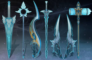 (CLOSED) - Weapon Set #019 - Crystal Burst by Timothy-Henri
