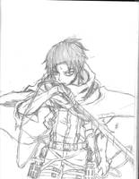 sketch: Levi Ackerman by LordSpade