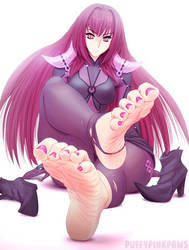 COMMISSION: Scathach/Lancer by puffypinkpaws