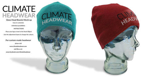 Free Glass Head Beanie Mock-Up by WokDesign