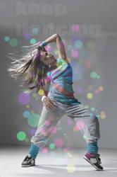 hip-hop dance girl by alexanderkx