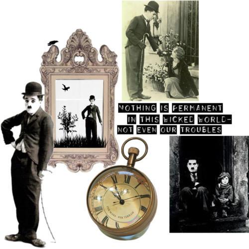 Charlie Chaplin collage by SeltzerAddict